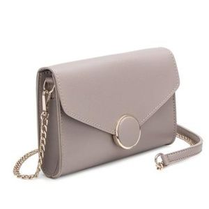 ELSA Taupe Front flap Crossbody by Melie Bianco